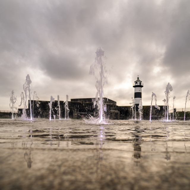"""""""Southsea Castle with fountains"""" stock image"""