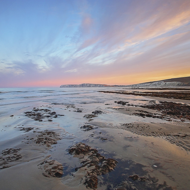 """Isle of Wight Sunrise"" stock image"