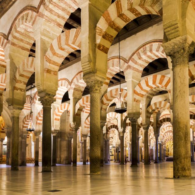 """La mezquita, mosque Cordoba, Southern Spain"" stock image"