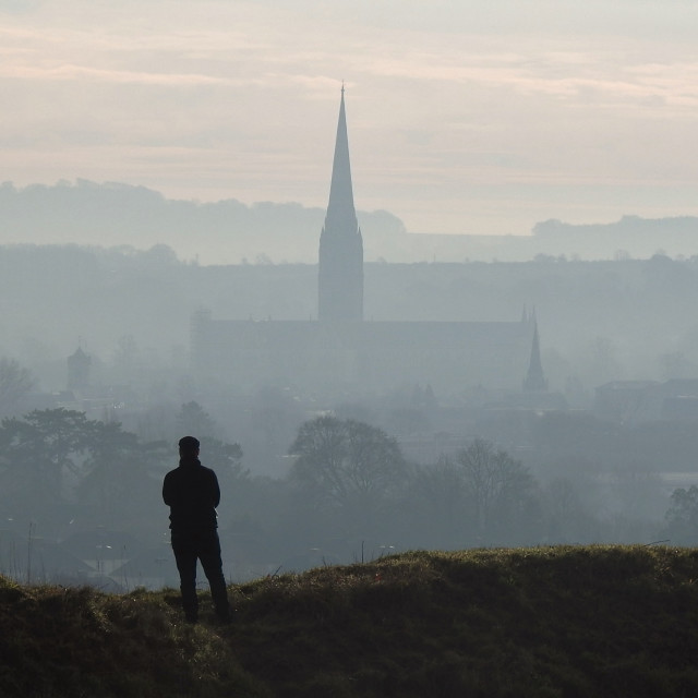 """Morning Spire."" stock image"