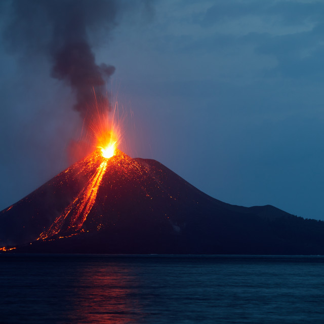 """Anak Krakatau, Indonesia"" stock image"