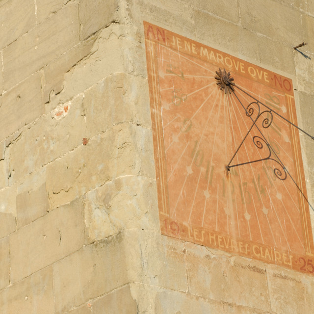 """Lausanne Switzerland Sundial on Chateau St.-Marie."" stock image"
