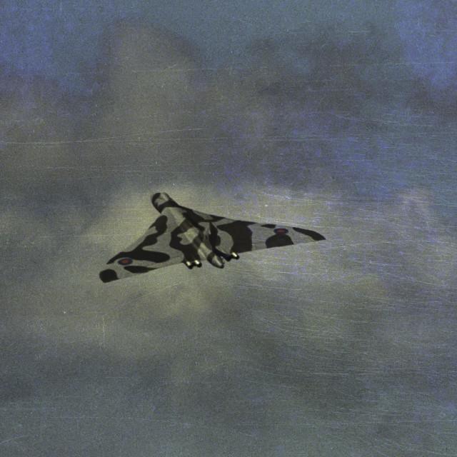 """Vulcan flying"" stock image"