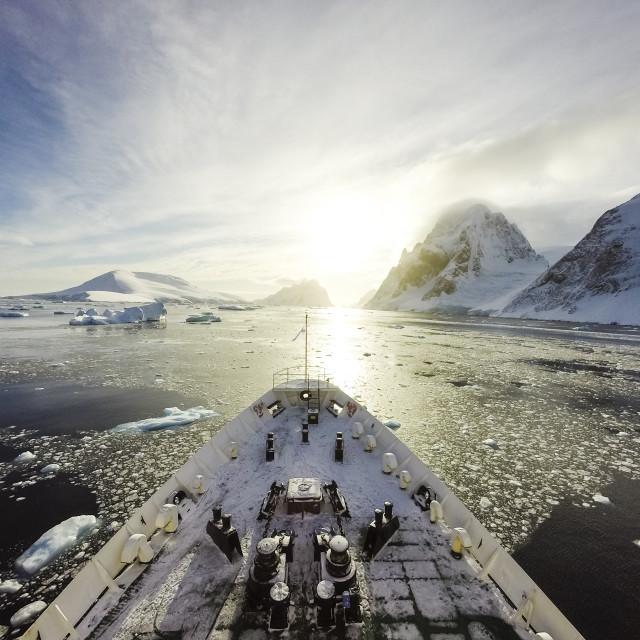 """""""Cruising among ice"""" stock image"""