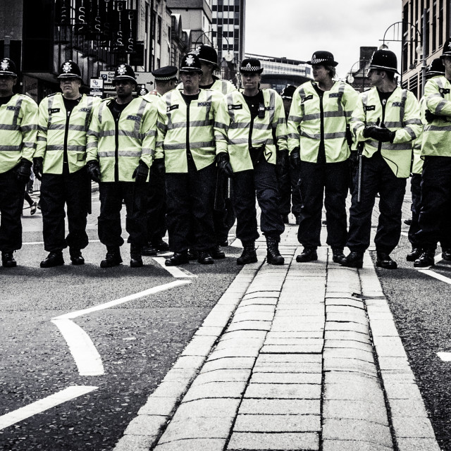 """""""Line of Riot Police"""" stock image"""