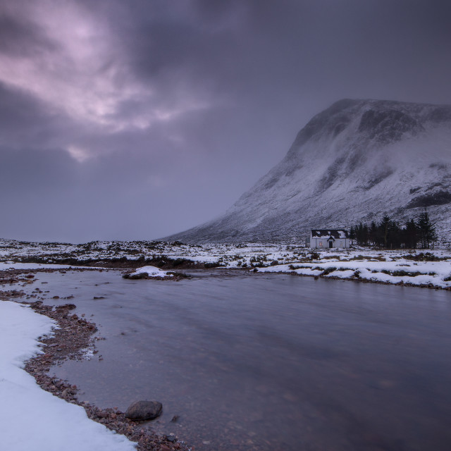 """The Buachaille Etive Mor"" stock image"