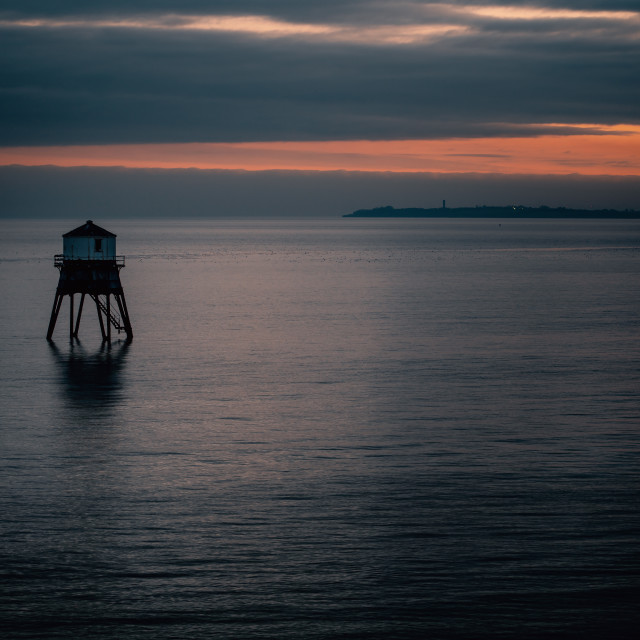 """Low Lighthouse Dovercourt Essex"" stock image"