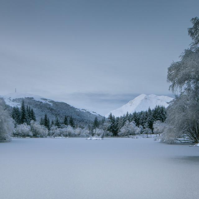"""Loch Lochan Winter"" stock image"