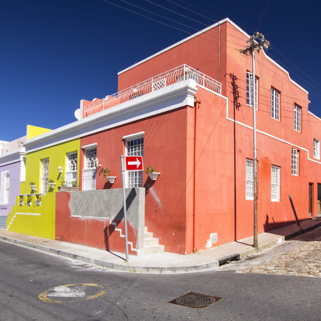 """""""colorful houses of Bo-kaap, Cape Town"""" stock image"""
