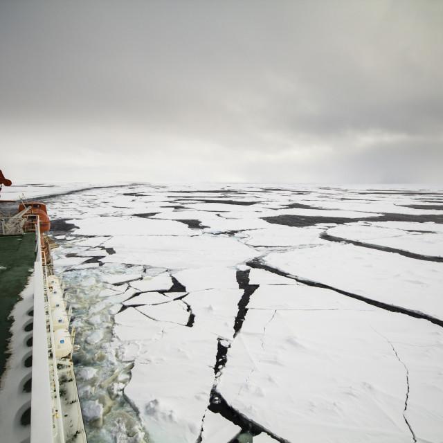 """""""Cruising in frozen ocean"""" stock image"""
