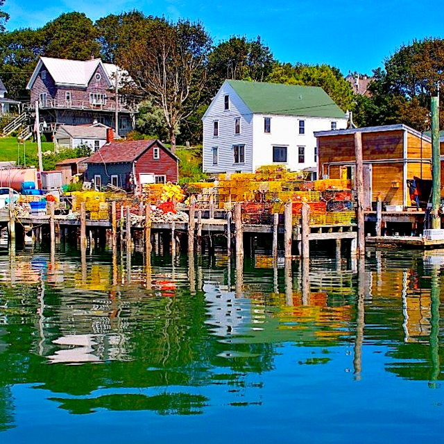 """FRIENDSHIP HARBOR MAINE"" stock image"