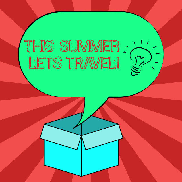 """""""Conceptual hand writing showing This Summer Lets Travel. Business photo..."""" stock image"""