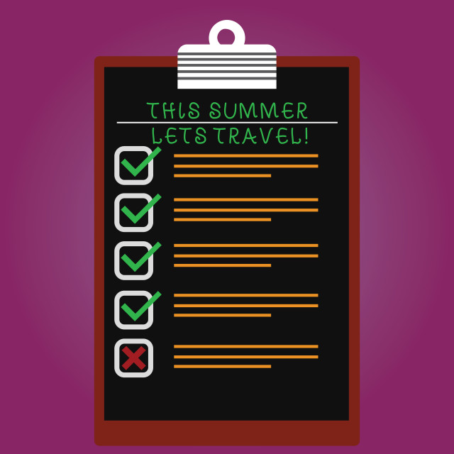 """""""Handwriting text This Summer Lets Travel. Concept meaning Invitation to trip..."""" stock image"""