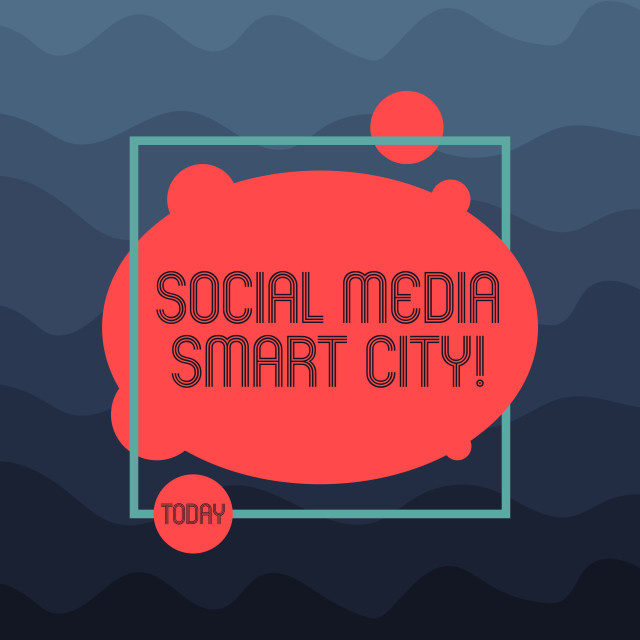 """Text sign showing Social Media Smart City. Conceptual photo Connected..."" stock image"