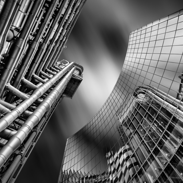 """Lloyd's Reflections Re-edited"" stock image"