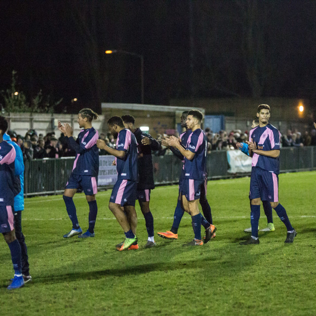 """Dulwich Hamlet vs. Eastbourne Borough, Boxing Day 2018"" stock image"