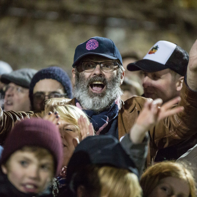 """""""Dulwich Hamlet vs. Eastbourne Borough, Boxing Day 2018"""" stock image"""