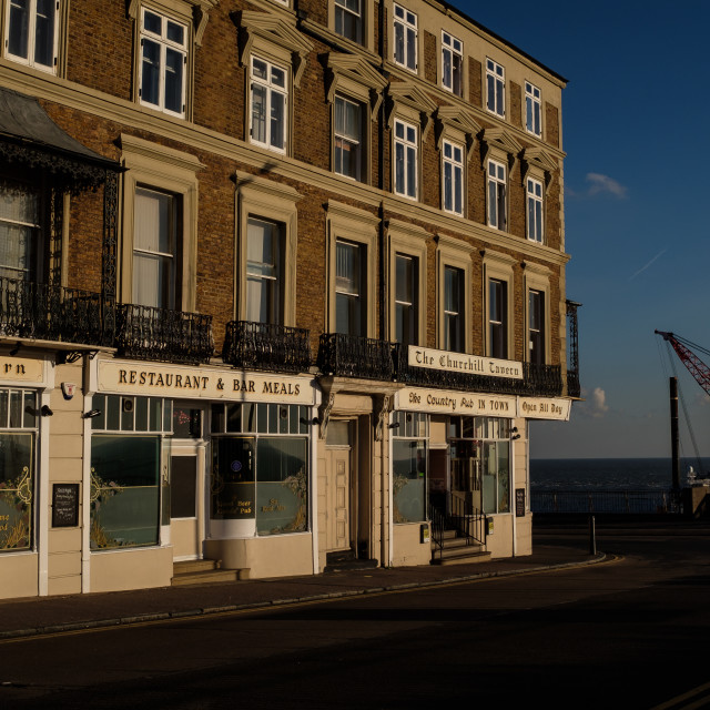 """Winter in Ramsgate"" stock image"