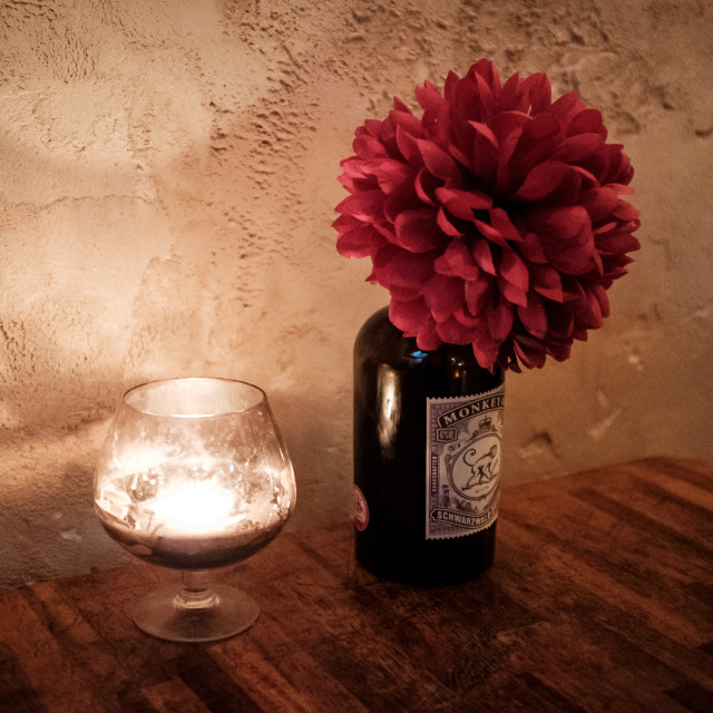 """Candle and Flower"" stock image"