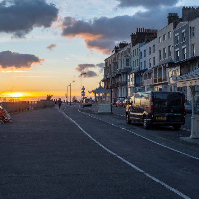 """Ramsgate Sunset"" stock image"