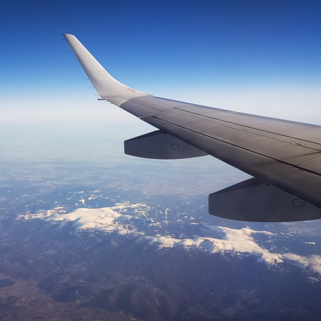 """""""Aerial view from aircraft"""" stock image"""