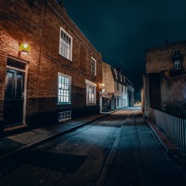 """Old Harwich By Night- Alma"" stock image"