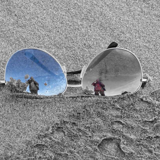"""Sunglasses-pop art"" stock image"