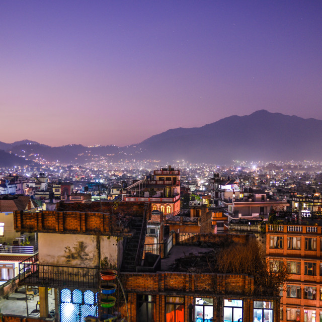 """Good Night Kathmandu"" stock image"
