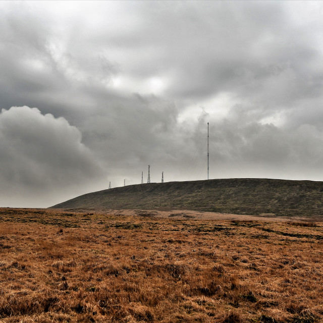 """""""Aerial masts at Winter Hill"""" stock image"""