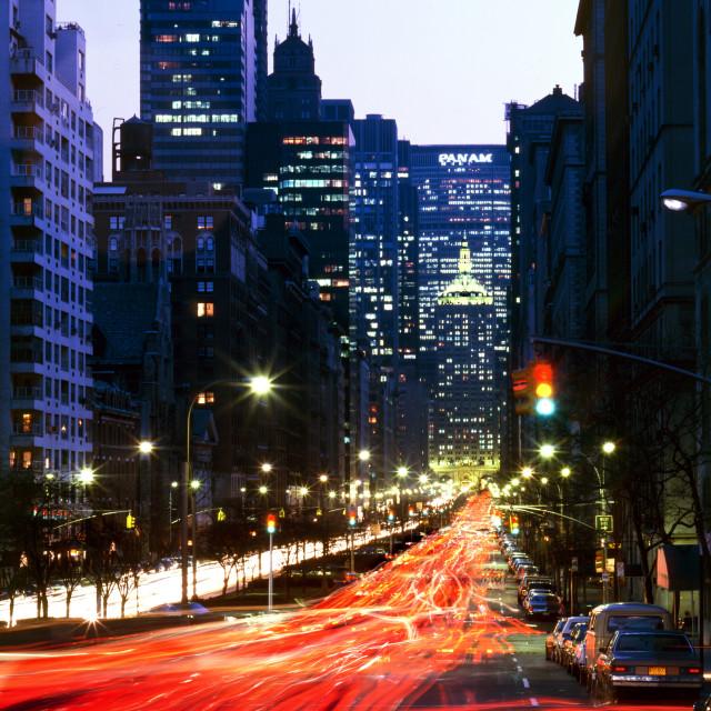 """Park Avenue"" stock image"