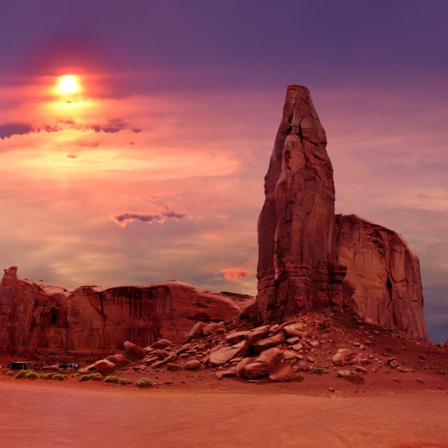 """The Hub in Monument Valley Tribal Park, Utah USA"" stock image"