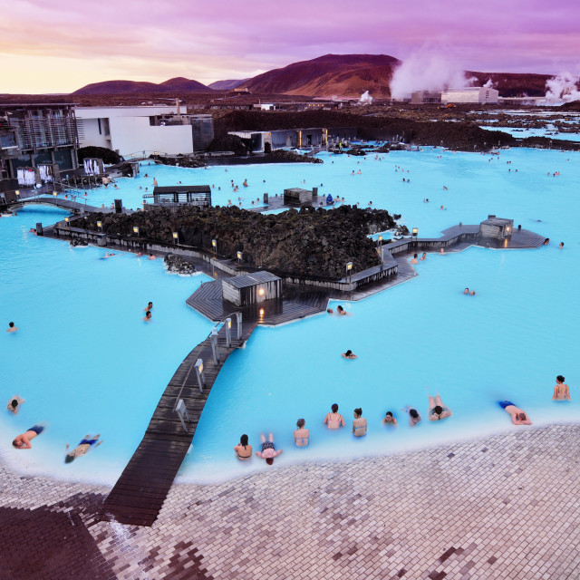 """The Blue Lagoon in Iceland"" stock image"