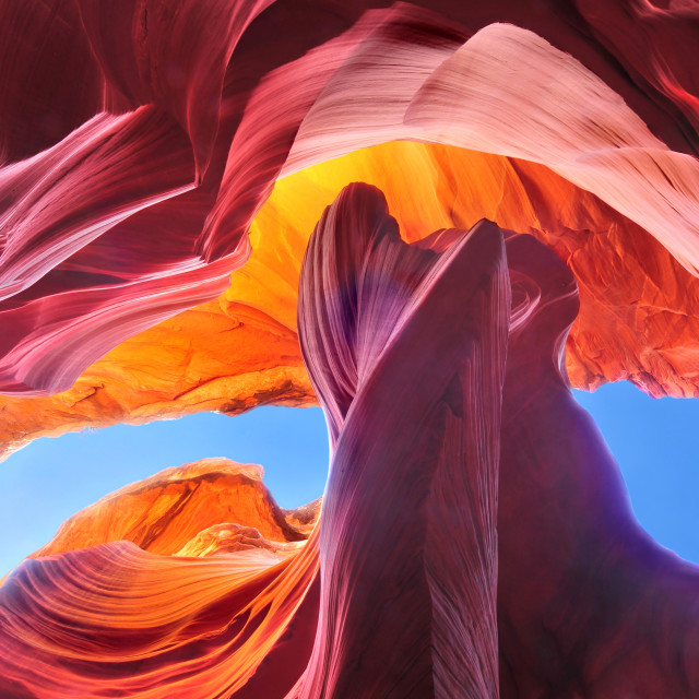 """Antelope Canyon in the Navajo Reservation near Page, Arizona USA"" stock image"