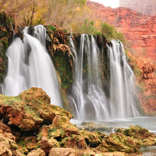 """Navajo Falls in Havasupai Indian Reservation in Arizona, USA"" stock image"