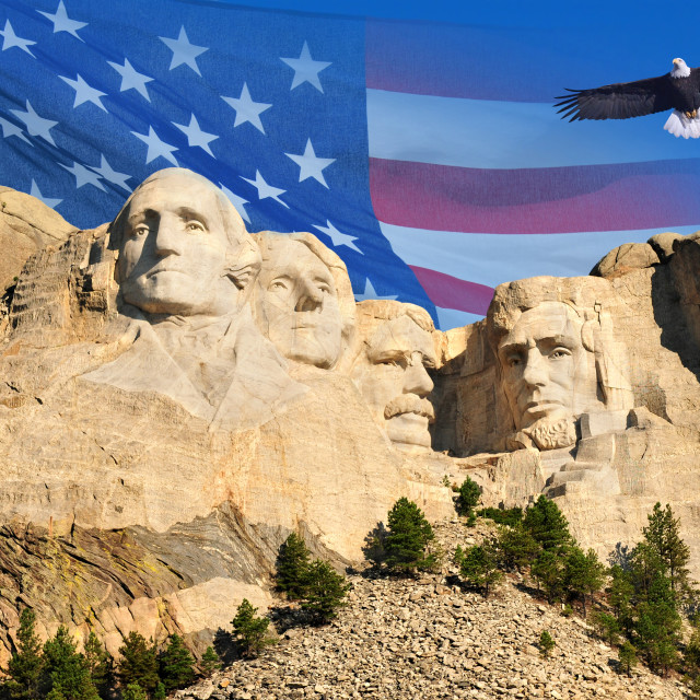 """Mount Rushmore in South Dakota, U.S.A."" stock image"