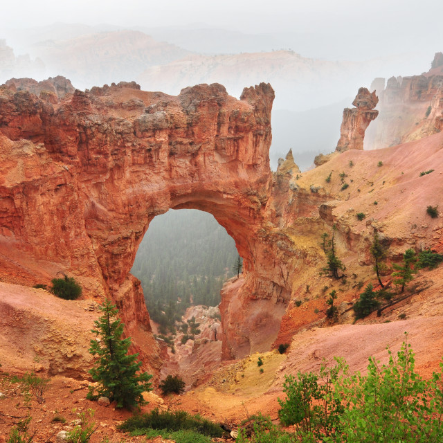 """Natural Bridge in Bryce Canyon National Park in Utah, USA"" stock image"