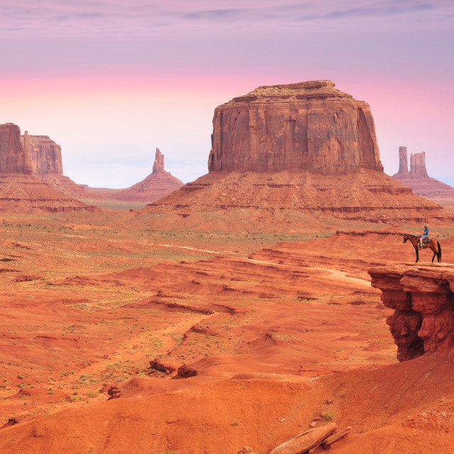 """John Ford's Point in Monument Valley"" stock image"
