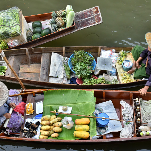 """Damnoen Saduak Floating Market in Thailand"" stock image"