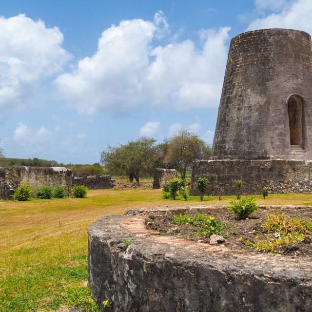 """""""Roussel Trianon mill ruins, Marie Galante"""" stock image"""