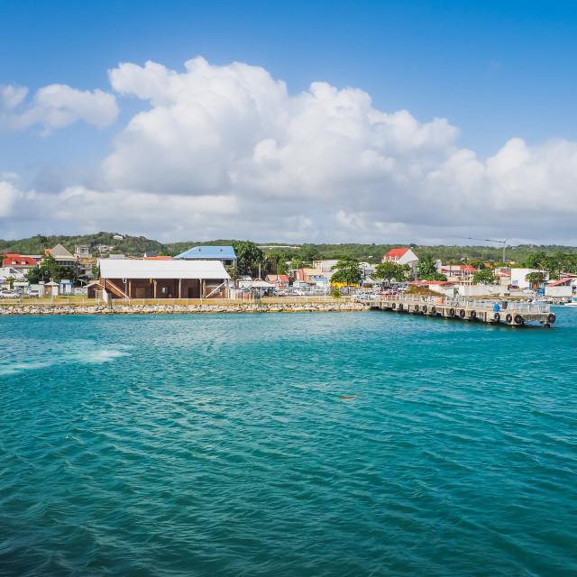 """Marie Galante grand Bourg port"" stock image"
