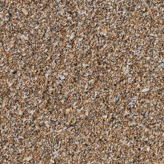 """Small pebbles beach close up"" stock image"