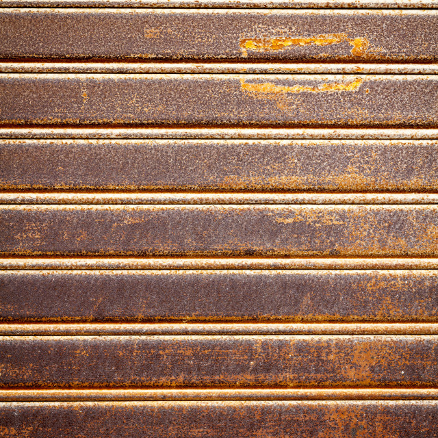 """""""Retro rusty security shutters"""" stock image"""