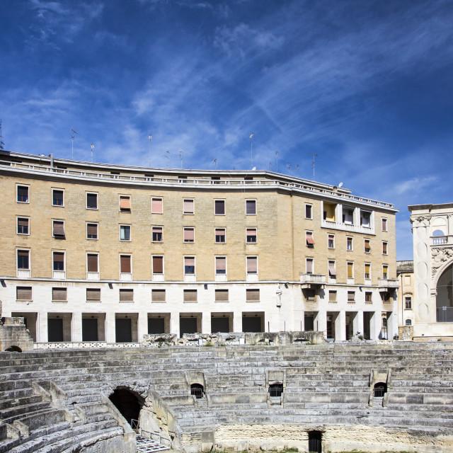 """Roman amphitheater at Lecce, Salento"" stock image"