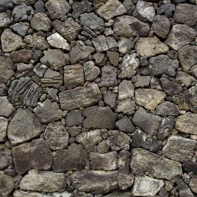 """""""Stone wall made from volcanic rocks"""" stock image"""