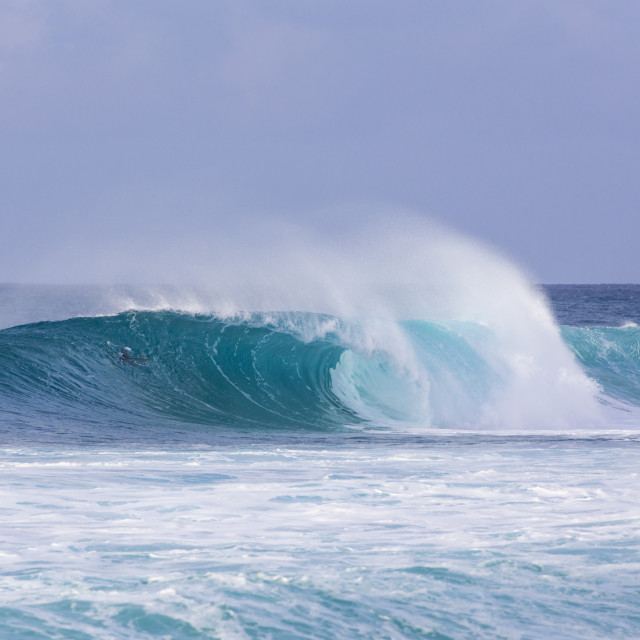 """""""The waves of Banzai Pipeline, Hawaii"""" stock image"""