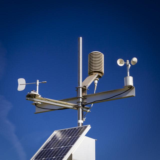 """Weather station"" stock image"