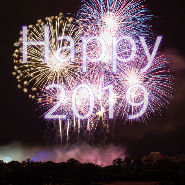 """Happy New Year 2019"" stock image"