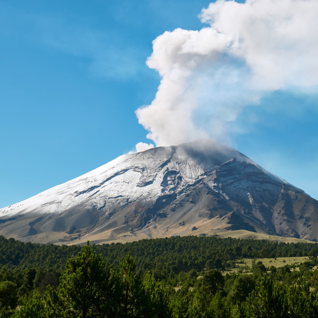 """Fumarole comes out from the Popocatepetl volcano"" stock image"