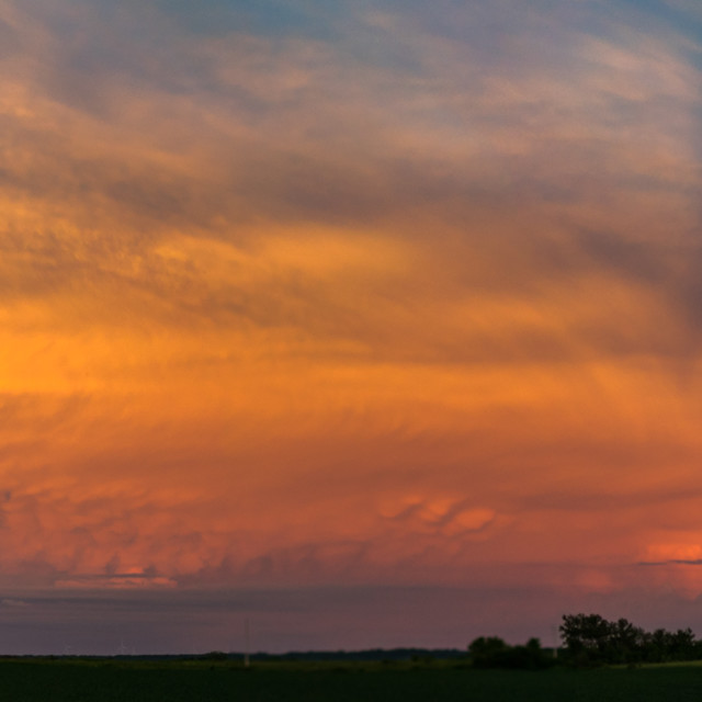"""""""Stormy Midwest Sunset"""" stock image"""