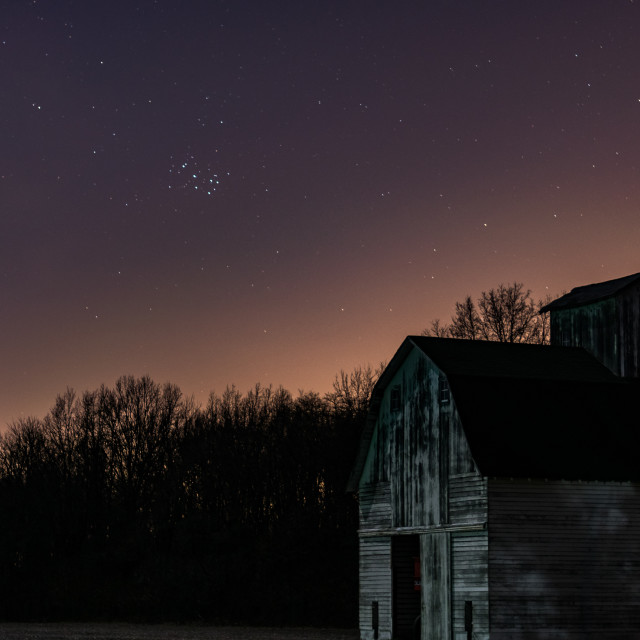 """""""Star-filled Country Night Sky"""" stock image"""